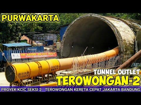 Bentuk Awal Terowongan Proyek Kereta Cepat Jakarta Bandung KCIC 2021