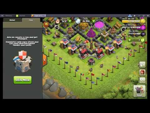 Clash of clans/  Fast donating /Hopping  /  3-4 minutes =  200 troops.