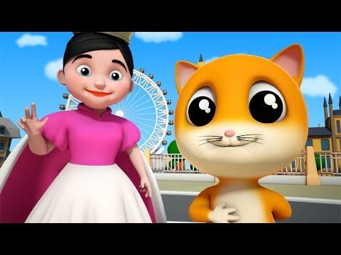 Pussy Cat Pussy Cat | Cat Song | Nursery Rhymes | Kids Songs | Baby Rhymes