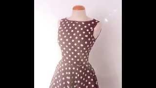1950's Pin up style polka dots rockabilly dress Thumbnail