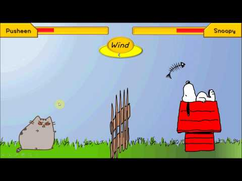 [Interactive PPT Game] Pusheen VS Snoopy - a PLAYABLE PowerPoint Game
