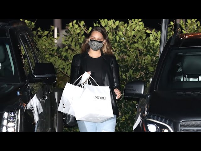 April Love Geary Showcases Post Baby-Bod While Grabbing Take-Out At Nobu