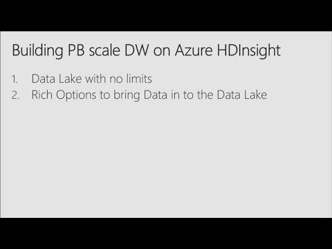 Building Petabyte scale Interactive Data warehouse in Azure HDInsight - BRK3355