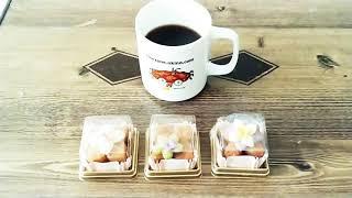약과 선물 세트 커피와 먹는 중!