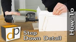 How To Make a Baseboard Step Down Detail + Bonus Trim Tips