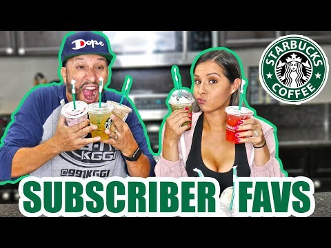 ODM (Voice Of Thee I.E.) - We Tried 10 Different Starbucks Drinks!