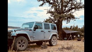 Jeep Camping Overland Style - Going Old School Car Camping