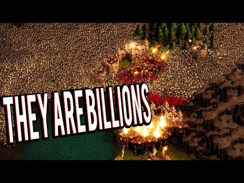 MASSIVE DEFENSES VS ZOMBIE INVASION - THEY ARE BILLIONS GAMEPLAY LETS PLAY v1
