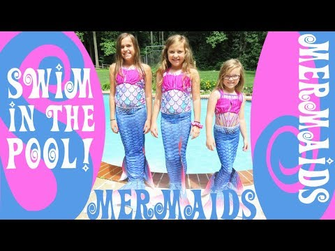 mermaids-swimming-in-the-pool!-|-crazy8family