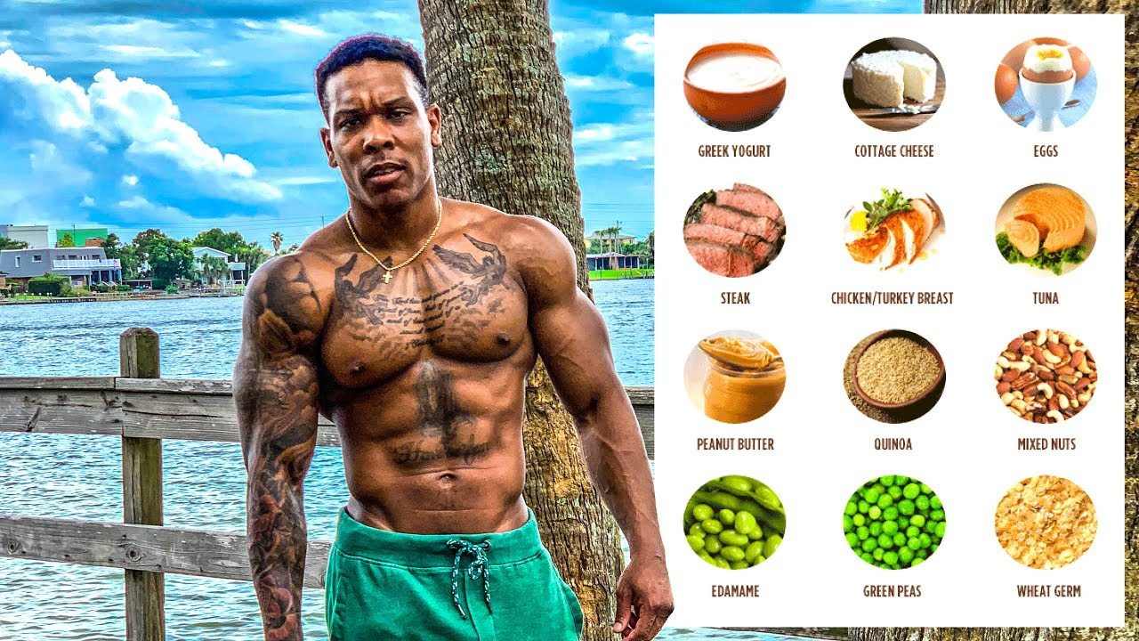Top 10 Muscle Building Foods Youtube