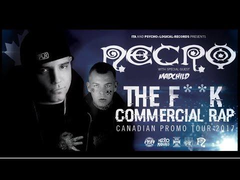 NECRO - Canada F**k Commercial Rap Tour Promo Video w/ MADCHILD 2017