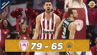 Olympiacos Piraeus - Panathinaikos OPAP Athens |79-65| ● Full Highlights ● Round 16