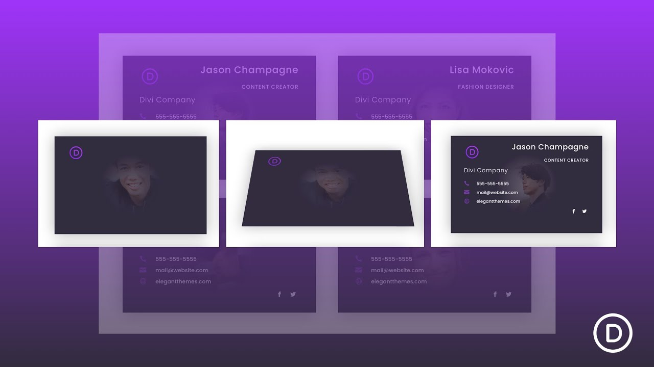 How to Design Business Cards with Flip Animation on Click to Showcase Your Team in Divi