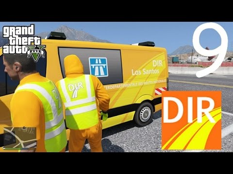 GTA 5 - DIR - DIRECTION INTERDÉPARTEMENTAL DES ROUTES - CRASH D'HÉLICOPTER - Boulot job #9