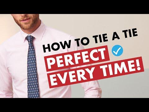 How to Tie A Tie - Half Windsor Knot - Easy Method!