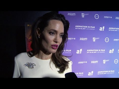 Angelina Jolie on the 'vulnerability' of girls at The Breadwinner premiere in L.A.