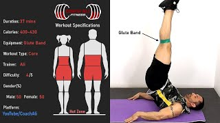 Abs Workout using Mini Band (Glutes Band) at Home with Coach Ali
