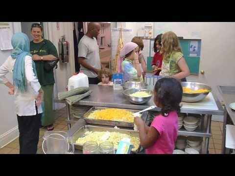 Children Helping In The Kitchen At The Bawa Muhaiyaddeen Fellowship September 3, 2010