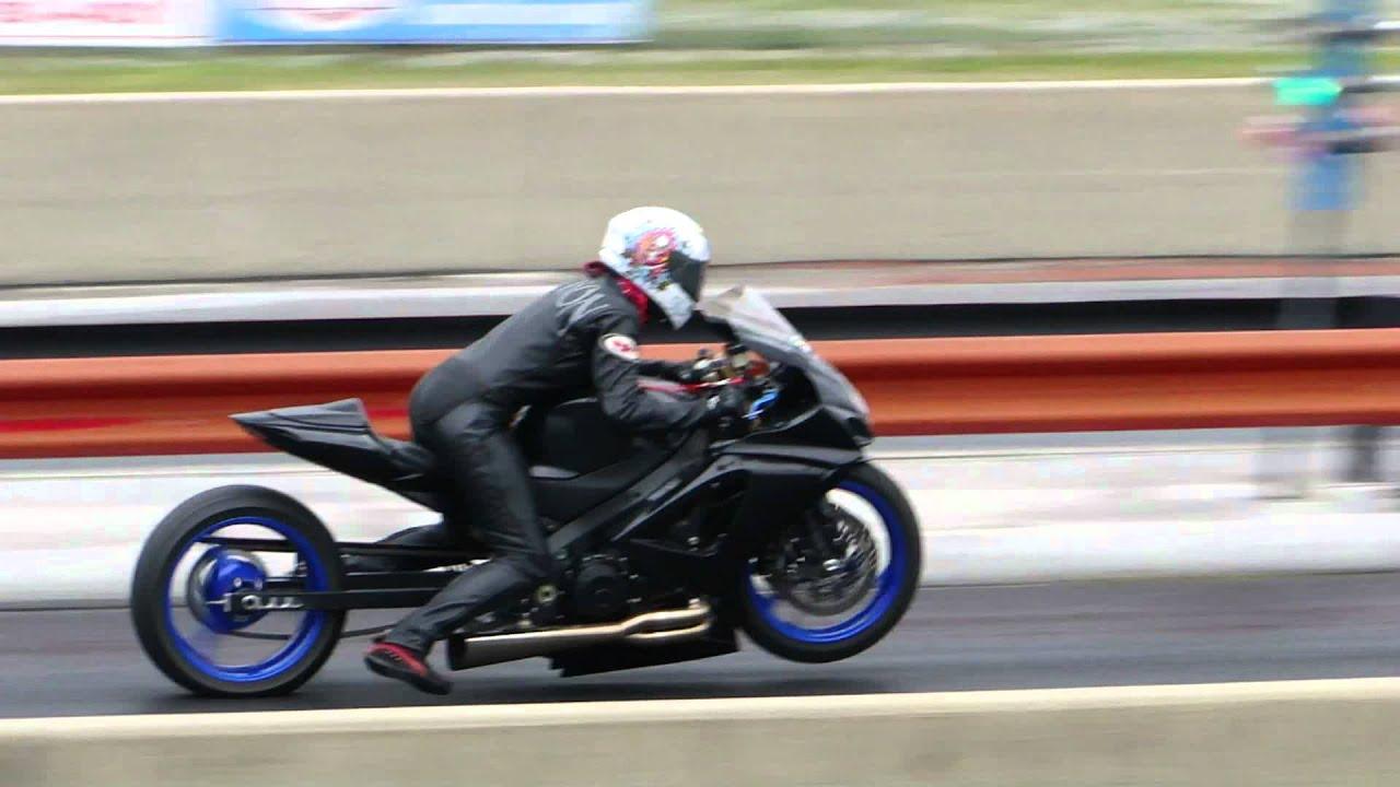 Female Motorcycle Drag Racer Erika Allison Racing Her Suzuki 1000