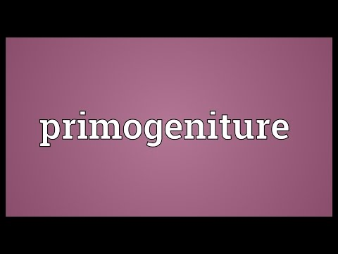 Header of primogeniture