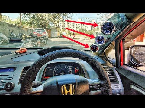 installating-gauges-for-all-cars-|-honda-civic-|-rpm,vacuum,-voltmeter-gauge!!!