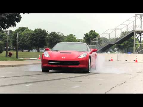 2014 Chevrolet Corvette Stingray - First Burnout! - CAR and DRIVER