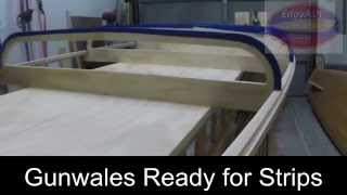 Edgyash™ Diy Paddle Board Kit (2) - Station Forms And Gunwale Installation