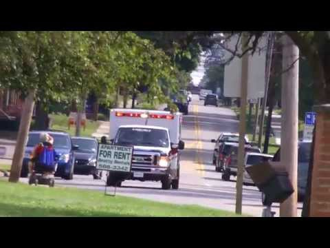 Greenville's Life Force Ambulance Responding To A Medical Call!-(9/10/14!)