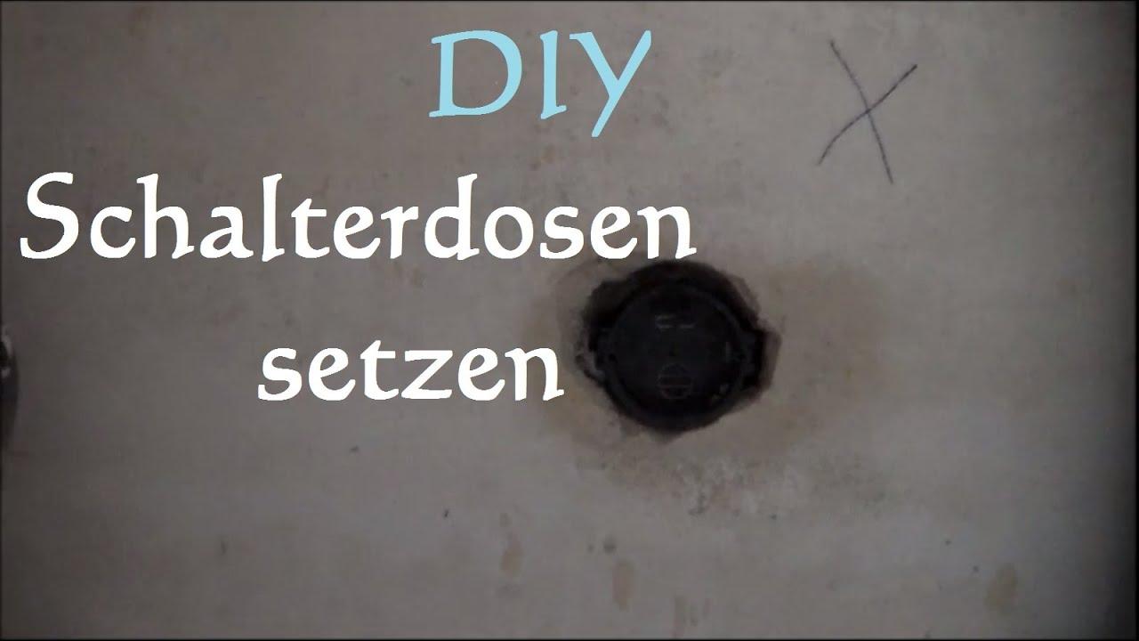 Schalterdose setzen  Schalterdosen eingipsen  ~ Spülbecken Wasserhahn Loch Bohren