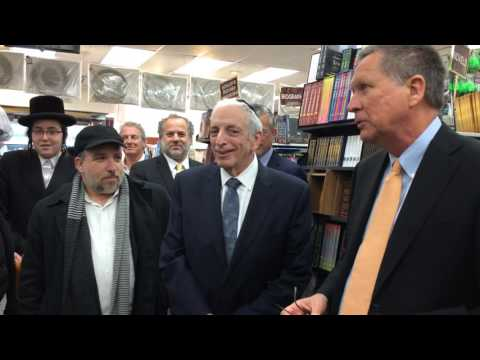 Kasich Lectures Yeshiva Students About Joseph