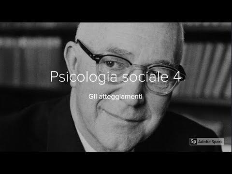 Psicologia sociale 4. Gli atteggiamenti