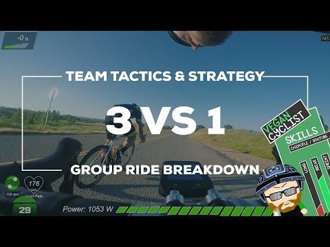 3 VS 1 Break-A-Way (Group/Race Ride Breakdown - Team Tactics & Strategy)
