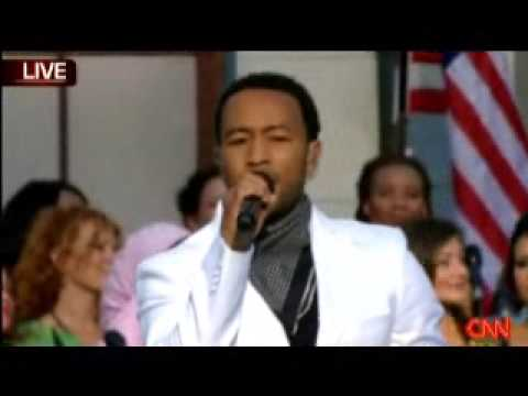 will.i.am & John Legend sing
