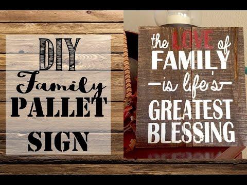 *DIY* Family Pallet Sign
