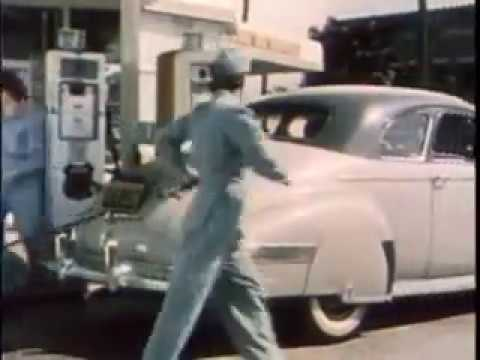 Color video of 1940s 76 Gas Station