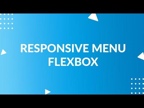 Responsive Menu Using Flexbox | Flexbox Tutorial