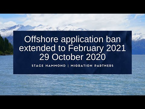 Offshore application block extended until February 2021 - 29 October 2020