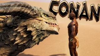 Conan Exiles – HUNTING INFANT DRAGONS IN THE MIDDLE – (Conan Exiles Gameplay)