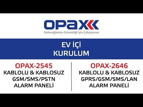 OPAX-2545 ve OPAX-2646 Ev içi kurulum nasıl yapılır?