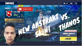 Nova ABSTRAKT pele é incrível! Fortnite Road to Tier 100! Battle Royale do Fortnite!