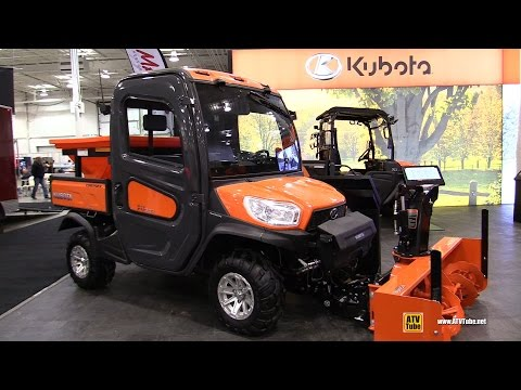 2017 Kubota RTV X1100 C Diesel Utility ATV with Snow Blower and Salt Dispencer - Walkaround