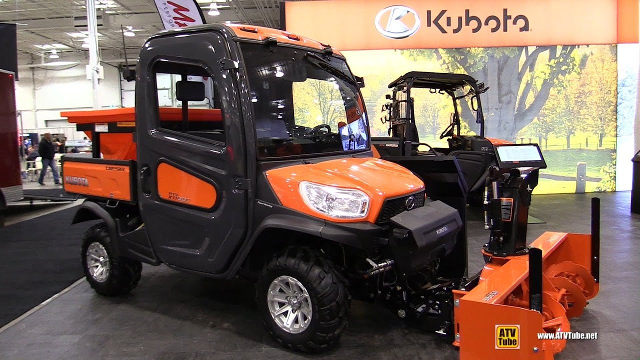 2017 kubota rtv x1100 c diesel utility atv with snow blower and salt dispencer walkaround. Black Bedroom Furniture Sets. Home Design Ideas