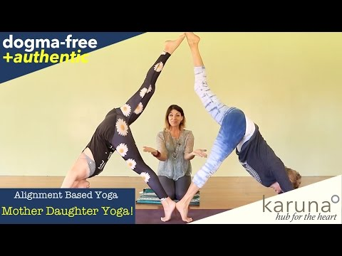 FUN! Partner Yoga featuring Awesome Mother & Daughter from Canada
