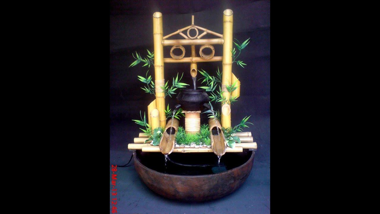 kerajinan bambu air mancur INTERIOR RUMAH DAN TAMAN  YouTube
