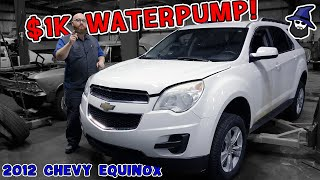 $1,000 Water pump? On a Chevy Equinox? CAR WIZARD show how much this repair is like working on a BMW