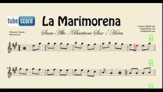 La Marimorena Partitura de Saxo Alto, Baritono Sax y Corno Francés o Trompa en Mi bemol Ande ande a