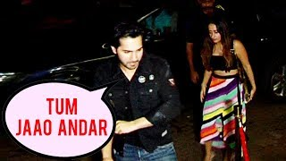 Varun Dhawan Keeps Girlfriend Natasha Dalal Away From Media - VIDEO PROOF
