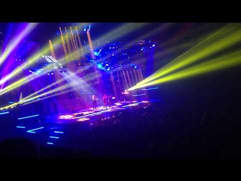 """Trans-Siberian Orchestra performing """"Christmas Canon"""" at Gwinnett Center 11/26/13."""