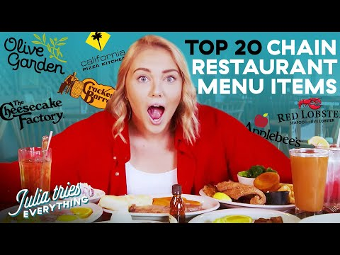 Best Chain Restaurant Menu Items Of All Time | Julia Tries Everything