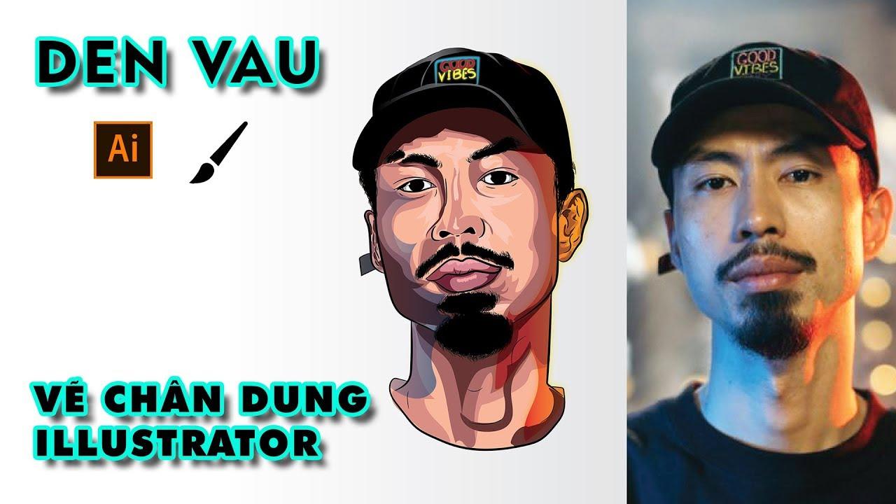 How I Create Face Den Vau Vector Art With Illustrator – Vẽ Đen Vâu Bằng Illustrator